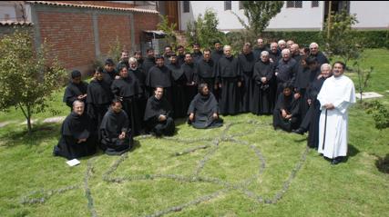 I Membri del Vicariato di Apurimac, con il Padre Generale ed il Consiglio della Provincia Agostiniana d'Italia, durante il Capitolo del Vicariato del Gennaio 2013.